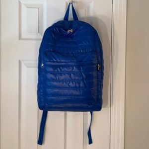 OFF TRACK BLUE QUILTED BACKPACK